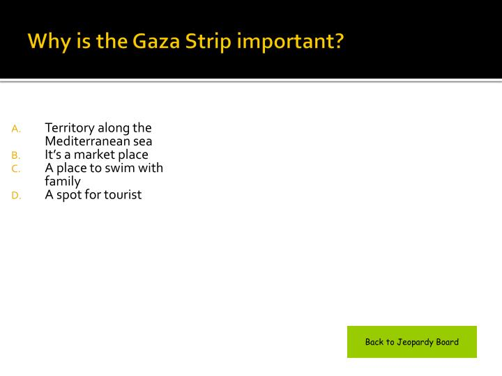 Why is the Gaza Strip important?