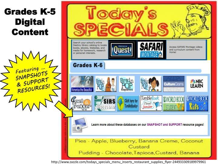 Grades K-5 Digital Content
