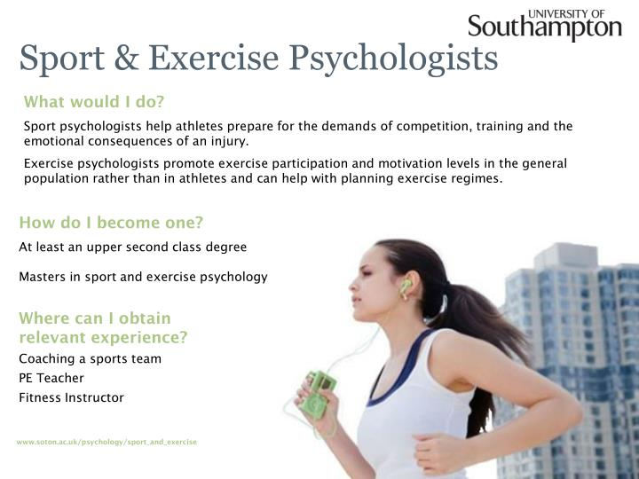Sport exercise psychologists