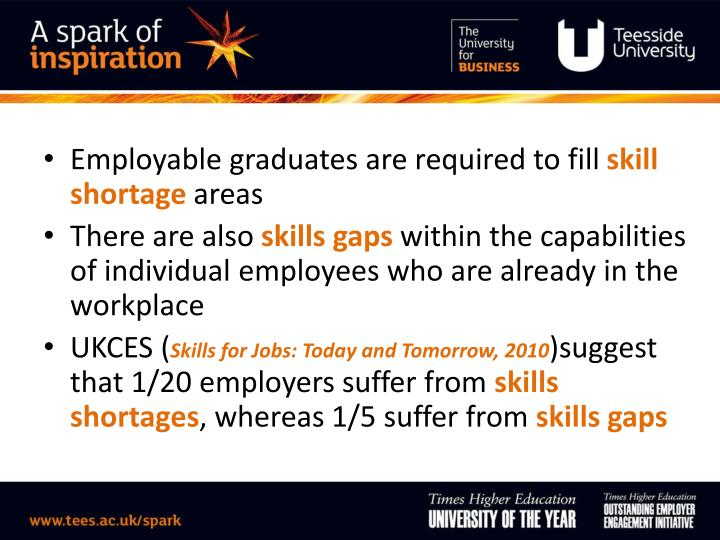 Employable graduates are required to fill
