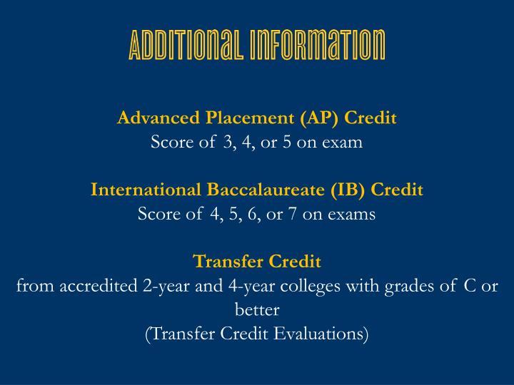 Advanced Placement (AP) Credit