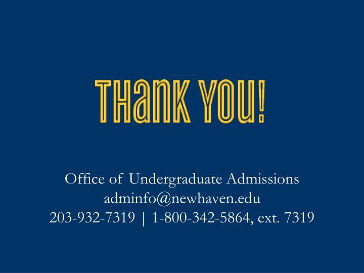 Office of Undergraduate Admissions