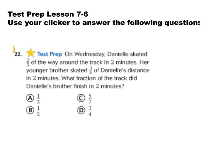 Test Prep Lesson 7-6