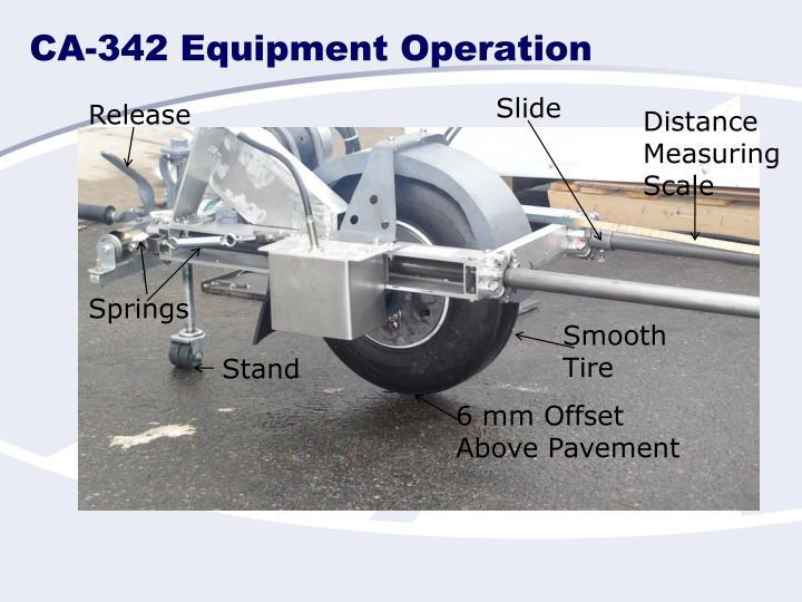 Ca 342 equipment operation