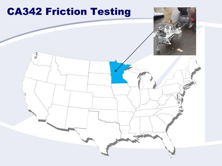 Ca342 friction testing