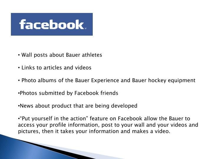 Wall posts about Bauer athletes