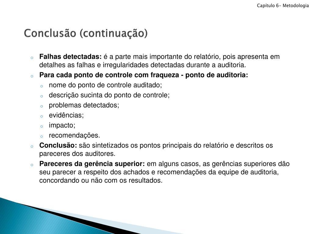 Ppt Capítulo 6 Metodologia Powerpoint Presentation Id