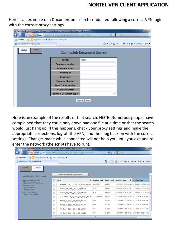 NORTEL VPN CLIENT APPLICATION