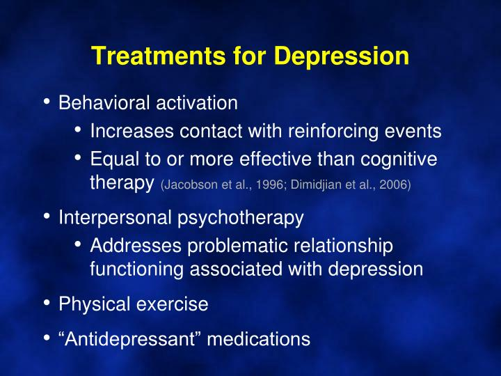 Treatments for Depression