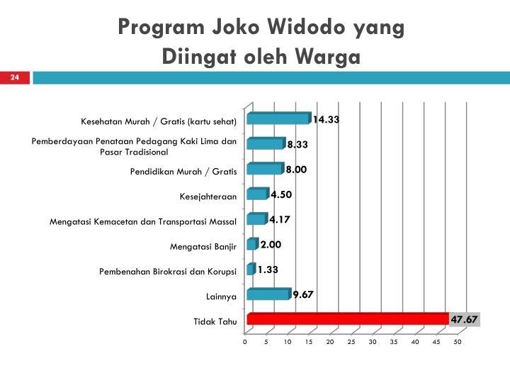 Program Joko Widodo yang
