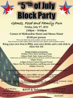 5 th of july block party
