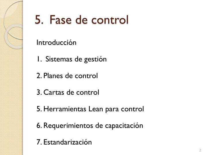 5 fase de control