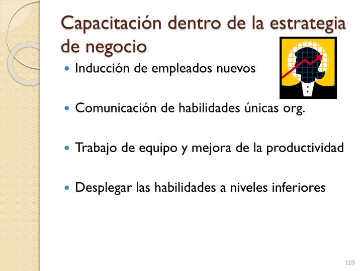 Capacitación dentro de la estrategia de negocio