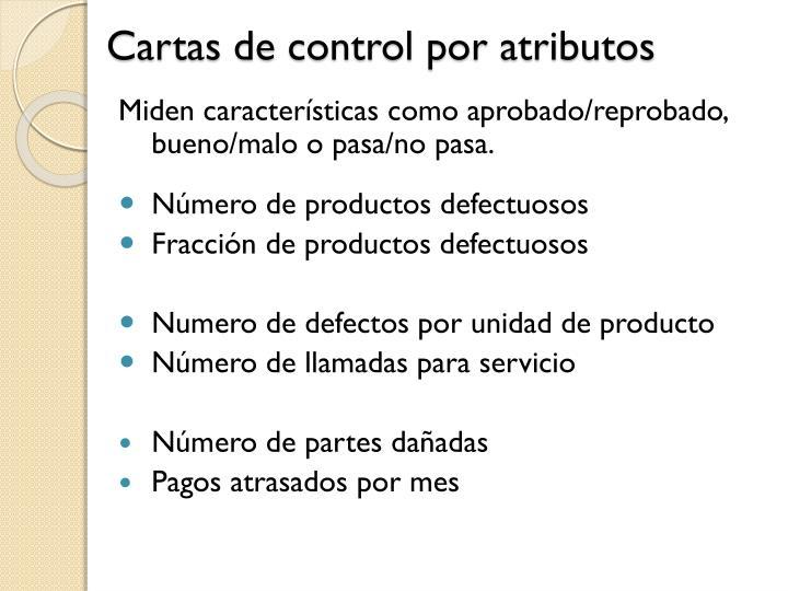 Cartas de control por atributos
