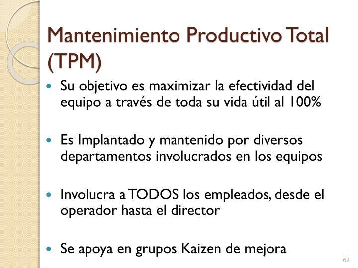 Mantenimiento Productivo Total (