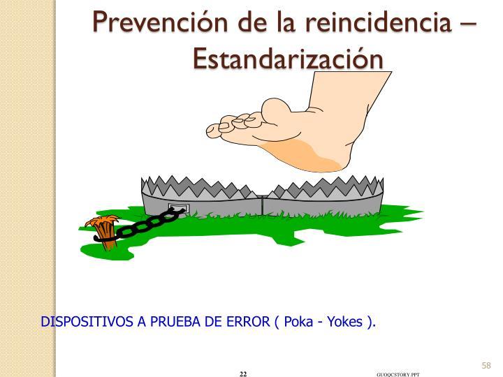 Prevención de la reincidencia –