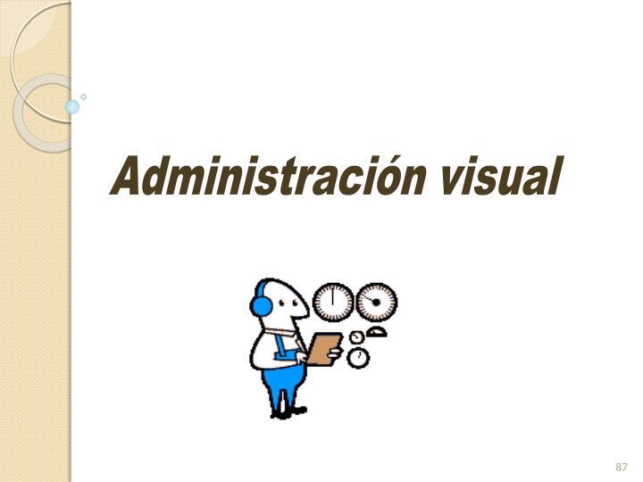 Administración visual