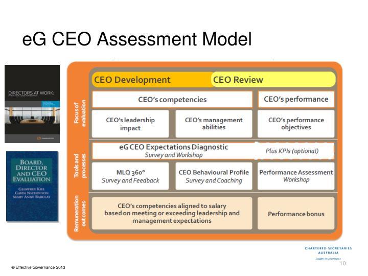 eG CEO Assessment Model