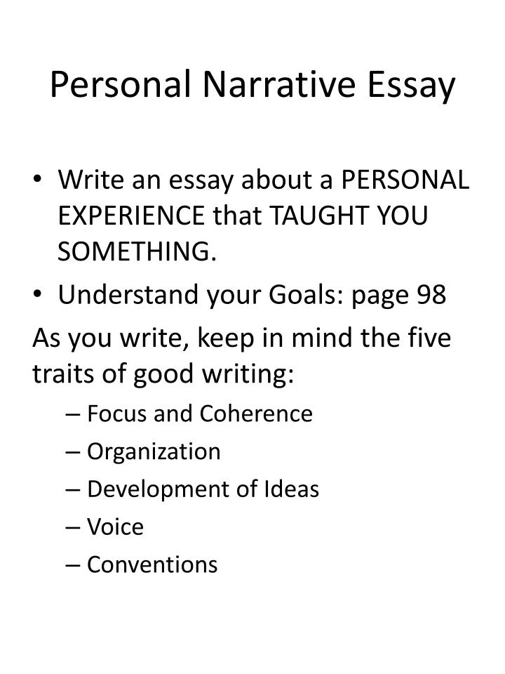 Admission essay writing narrative