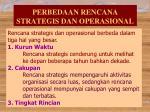 perbedaan rencana strategis dan operasional