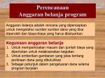 perencanaan anggaran belanja program