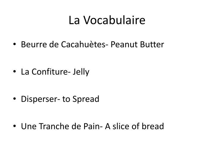 La vocabulaire