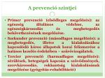 a prevenci szintjei