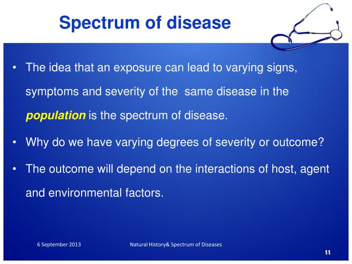 Spectrum of disease