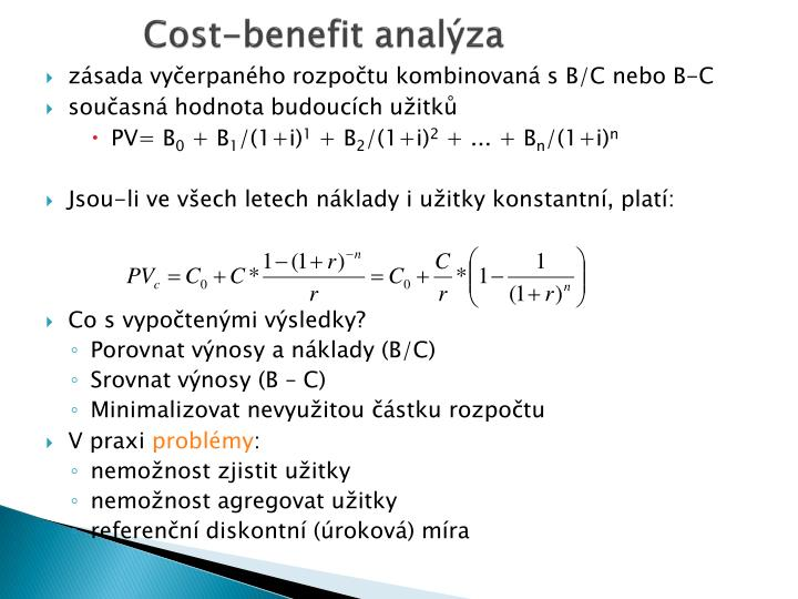 Cost-benefit analýza