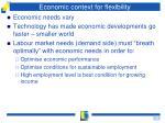 economic context for flexibility