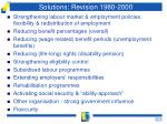 solutions revision 1980 2000