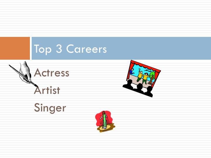Top 3 careers