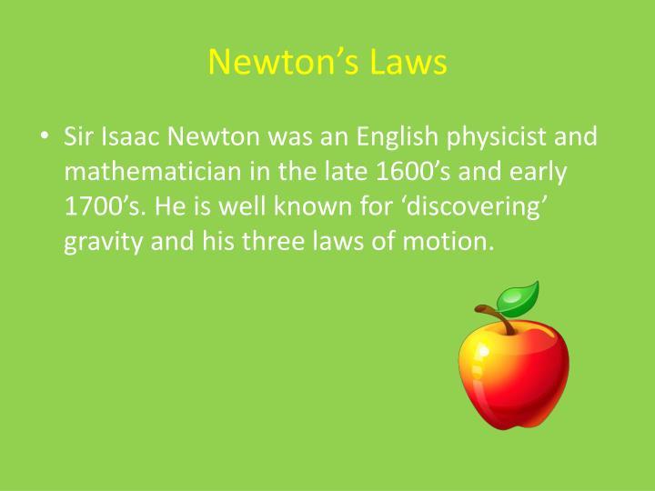 Newton s laws1