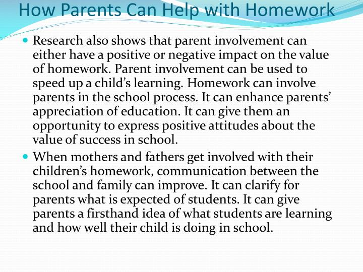 How Parents Can Help with Homework