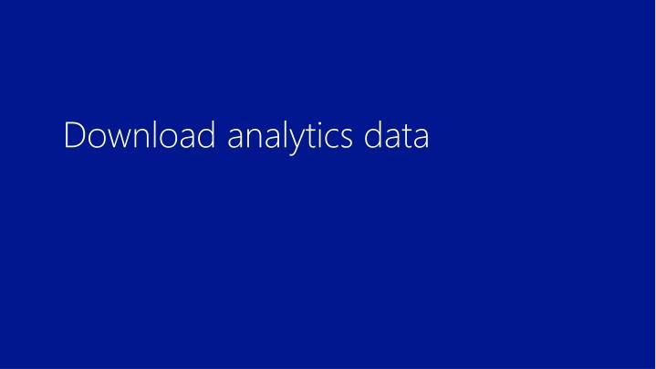 Download analytics data