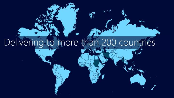 Delivering to more than 200 countries
