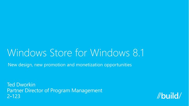Windows store for windows 8 1