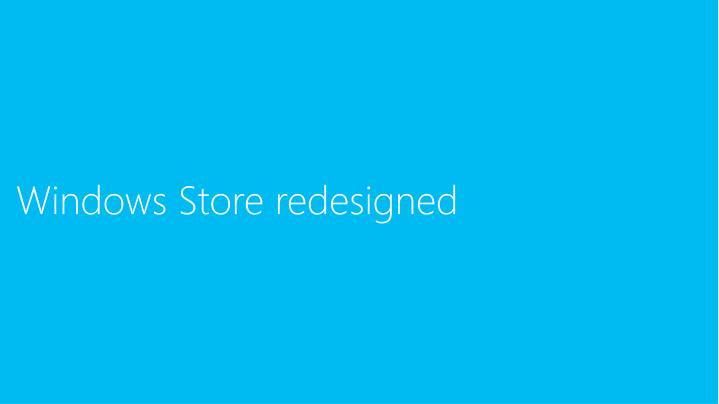 Windows Store redesigned