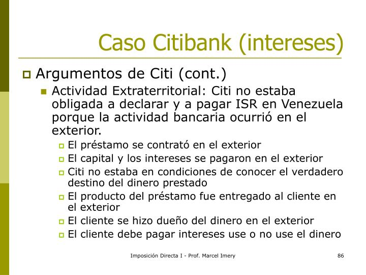 Caso Citibank (intereses)