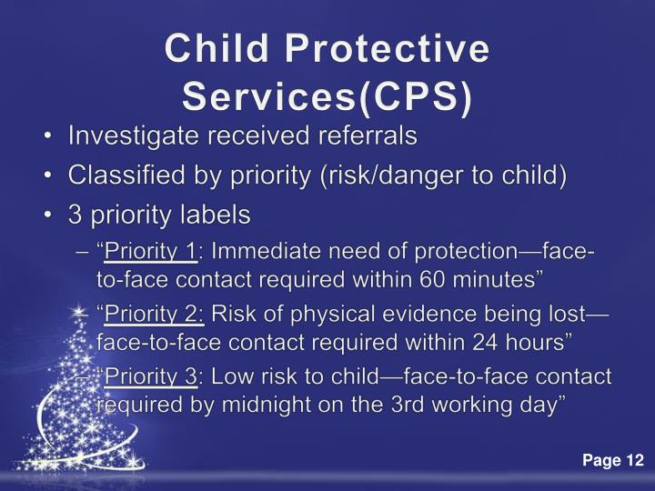 Child Protective Services(CPS)