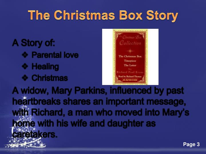 The christmas box story