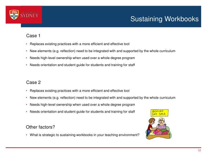 Sustaining Workbooks