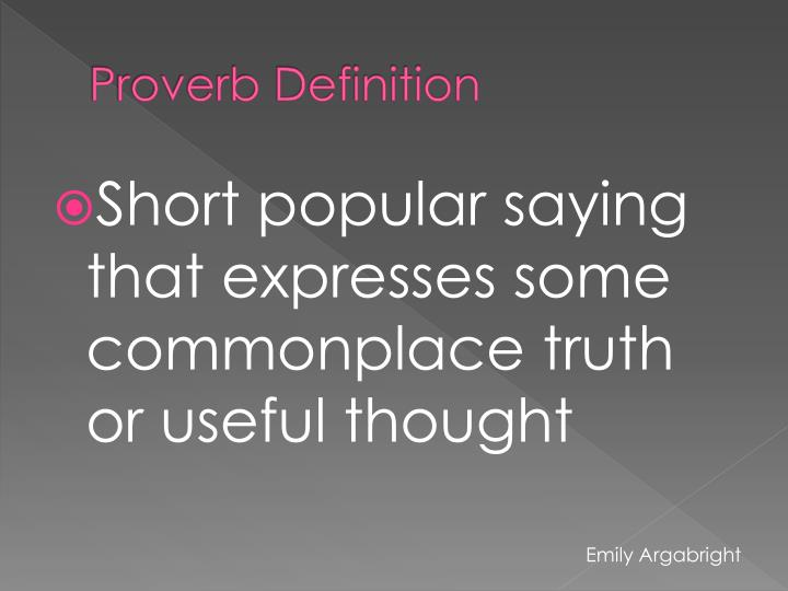 Proverb definition