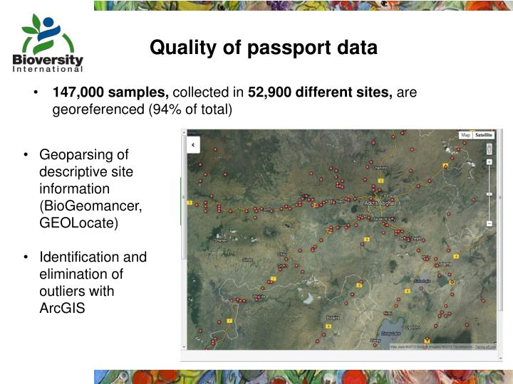 Quality of passport data