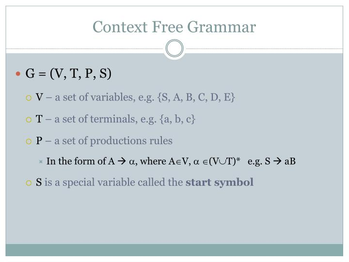 Context free grammar1