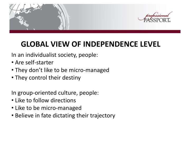 GLOBAL VIEW OF