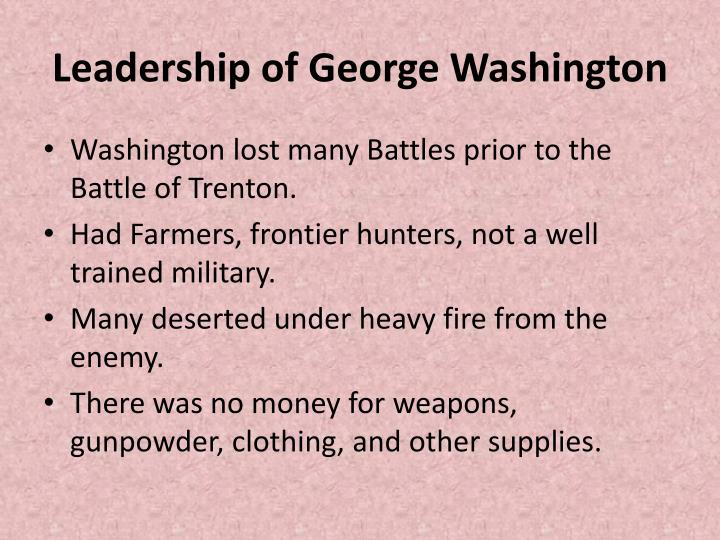 Leadership of George Washington