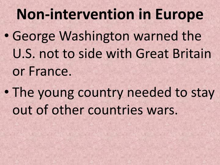 Non-intervention in Europe