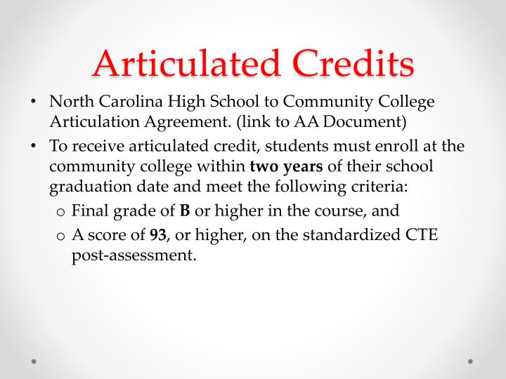 Articulated Credits