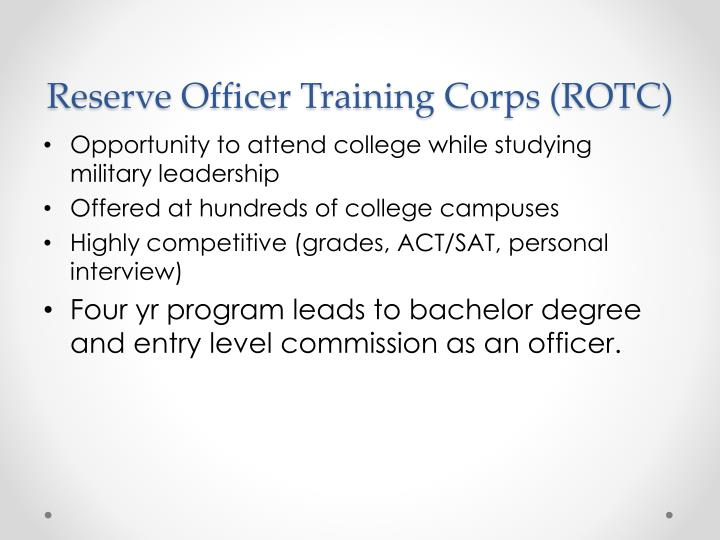 Reserve Officer Training Corps (ROTC)